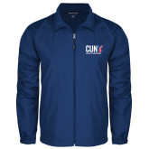 CUNY Athletics Full Zip Royal Wind Jacket-Official Logo