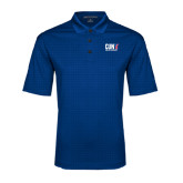 CUNY Athletics Royal Performance Fine Jacquard Polo-Official Logo