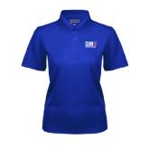 CUNY Athletics Ladies Royal Dry Mesh Polo-Official Logo