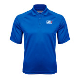 CUNY Athletics Royal Textured Saddle Shoulder Polo-Official Logo
