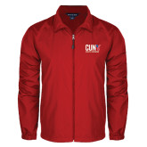 CUNY Athletics Full Zip Red Wind Jacket-Official Logo