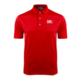 CUNY Athletics Red Dry Mesh Polo-Official Logo