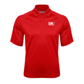CUNY Athletics Red Textured Saddle Shoulder Polo-Official Logo