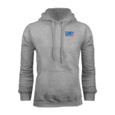 CUNY Athletics Grey Fleece Hoodie-Official Logo