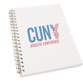 CUNY Athletics Clear 7 x 10 Spiral Journal Notebook-Official Logo