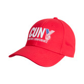 CUNY Athletics Red Heavyweight Twill Pro Style Hat-Official Logo
