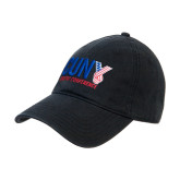 CUNY Athletics Black Twill Unstructured Low Profile Hat-Official Logo