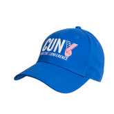 CUNY Athletics Royal Heavyweight Twill Pro Style Hat-Official Logo