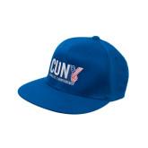 CUNY Athletics Royal OttoFlex Flat Bill Pro Style Hat-Official Logo