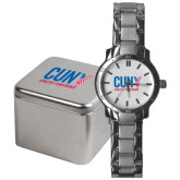 CUNY Athletics Mens Stainless Steel Fashion Watch-Official Logo