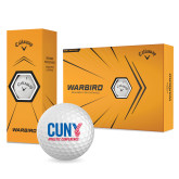 CUNY Athletics Callaway Warbird Golf Balls 12/pkg-Official Logo