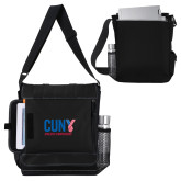 CUNY Athletics Impact Vertical Black Computer Messenger Bag-Official Logo