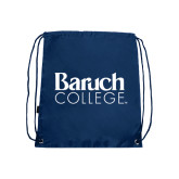College Navy Drawstring Backpack-Official Logo
