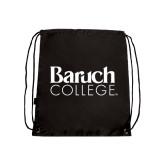 College Black Drawstring Backpack-Official Logo