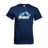 Navy T Shirt-Baruch Athletics