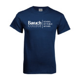 Navy T Shirt-School of Public Affairs Stacked