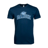 Next Level SoftStyle Navy T Shirt-Baruch Arched