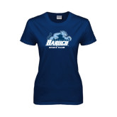 Ladies Navy T Shirt-Dance Team