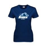 Ladies Navy T Shirt-Alumni