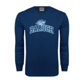 Navy Long Sleeve T Shirt-Baruch Arched
