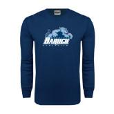 Navy Long Sleeve T Shirt-Baruch Athletics