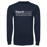 Navy Long Sleeve T Shirt-School of Public Affairs