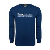 Navy Long Sleeve T Shirt-Weissman School of Arts