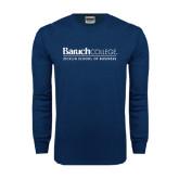 Navy Long Sleeve T Shirt-Zicklin School of Business