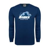 Navy Long Sleeve T Shirt-Dance Team