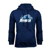 College Navy Fleece Hoodie-Baruch Athletics
