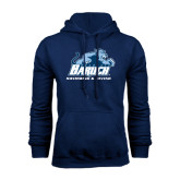 College Navy Fleece Hoodie-Swimming and Diving