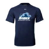 Under Armour Navy Tech Tee-Swimming and Diving