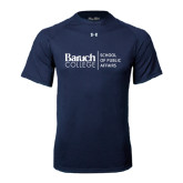 Under Armour Navy Tech Tee-School of Public Affairs Stacked