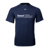 Under Armour Navy Tech Tee-Weissman School of Arts Stacked