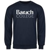 College Navy Fleece Crew-Official Logo