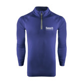 College Under Armour Navy Tech 1/4 Zip Performance Shirt-Official Logo