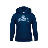 College Youth Navy Fleece Hoodie-Baruch Arched