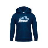 College Youth Navy Fleece Hoodie-Baruch Athletics