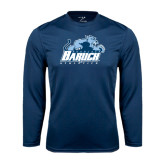 College Performance Navy Longsleeve Shirt-Baruch Athletics