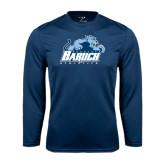 Syntrel Performance Navy Longsleeve Shirt-Baruch Athletics