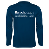 College Performance Navy Longsleeve Shirt-School of Public Affairs