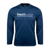 Syntrel Performance Navy Longsleeve Shirt-Zicklin School of Business