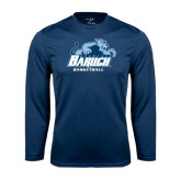 College Performance Navy Longsleeve Shirt-Basketball