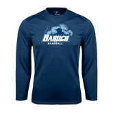 College Performance Navy Longsleeve Shirt-Baseball