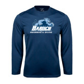 College Performance Navy Longsleeve Shirt-Swimming and Diving