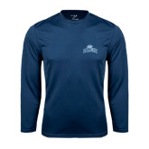 Syntrel Performance Navy Longsleeve Shirt-Baruch Arched