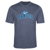 Performance Navy Heather Contender Tee-Baruch Arched