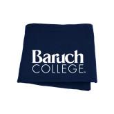 College Navy Sweatshirt Blanket-Official Logo