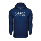 College Under Armour Navy Performance Sweats Team Hoodie-Official Logo