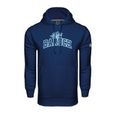 College Under Armour Navy Performance Sweats Team Hoodie-Baruch Arched